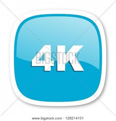 4k blue glossy icon
