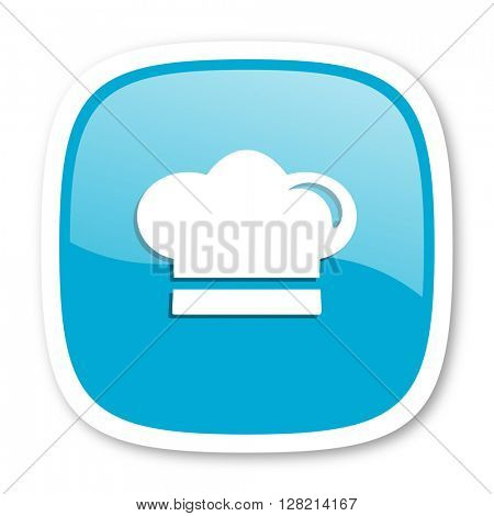 cook blue glossy icon