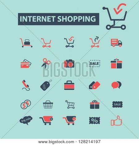 internet shopping icons
