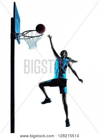 woman basketball player silhouette