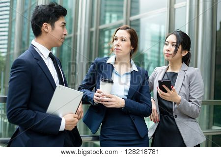 Business people talking to each other