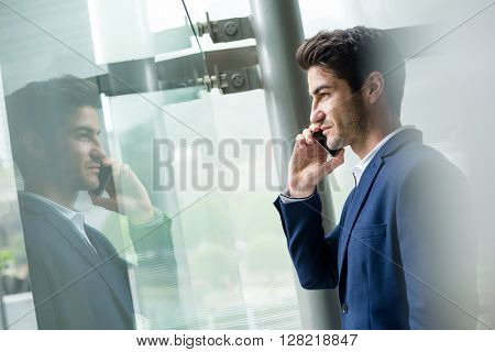 Business man chat on smart phone