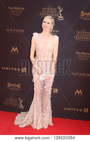 LOS ANGELES - MAY 1:  Brooke Burns at the 43rd Daytime Emmy Awards at the Westin Bonaventure Hotel  on May 1, 2016 in Los Angeles, CA