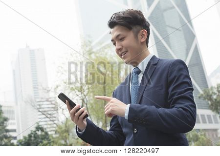 Business man use mobile phone