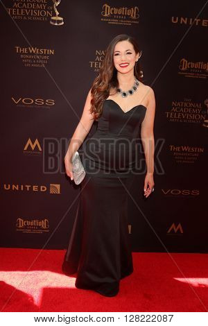 LOS ANGELES - MAY 1:  Teresa Castillo at the 43rd Daytime Emmy Awards at the Westin Bonaventure Hotel  on May 1, 2016 in Los Angeles, CA