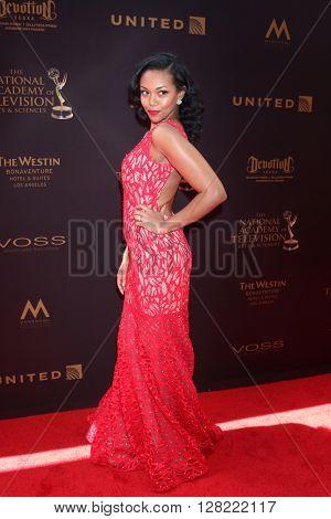 LOS ANGELES - MAY 1:  Mishael Morgan at the 43rd Daytime Emmy Awards at the Westin Bonaventure Hotel  on May 1, 2016 in Los Angeles, CA