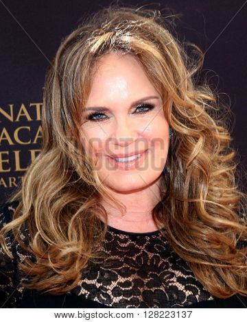 LOS ANGELES - MAY 1:  Catherine Bach at the 43rd Daytime Emmy Awards at the Westin Bonaventure Hotel  on May 1, 2016 in Los Angeles, CA