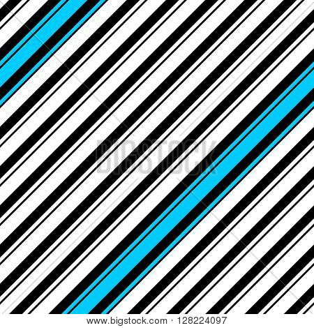Seamless Diagonal Stripe Pattern. Vector Black and Blue Background