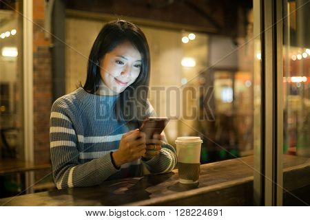 Woman drink of coffee