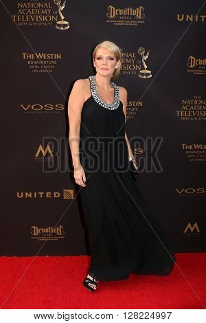 LOS ANGELES - MAY 1:  Maura West at the 43rd Daytime Emmy Awards at the Westin Bonaventure Hotel  on May 1, 2016 in Los Angeles, CA