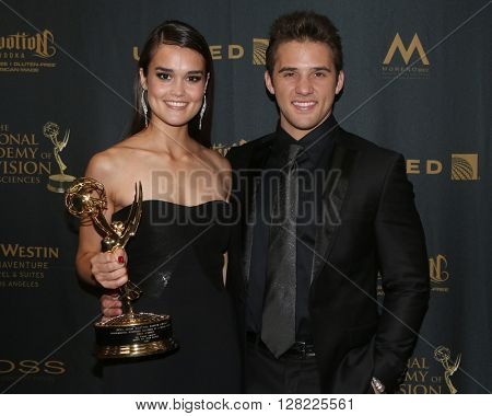 LOS ANGELES - MAY 1:  True O'Brien, Casey Moss at the 43rd Daytime Emmy Awards at the Westin Bonaventure Hotel  on May 1, 2016 in Los Angeles, CA