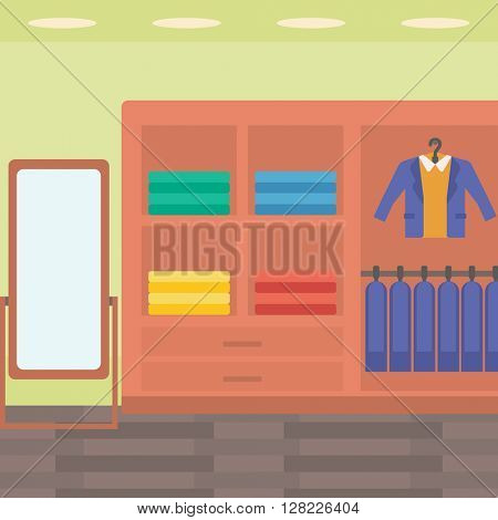 Background of clothes store.