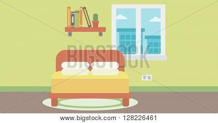 Background of bedroom.