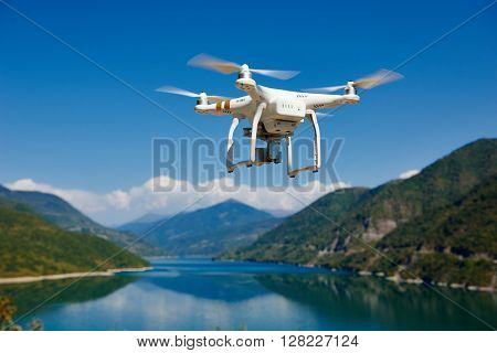 drone quadrocopter with digital camera
