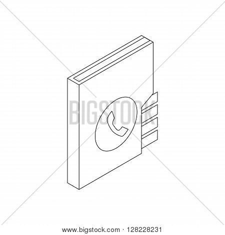 Address book icon in isometric 3d style on a white background
