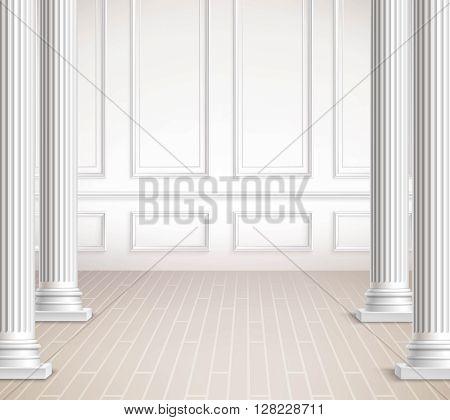 Classic Interior Design. Interior Vector Design. Classic Interior Realistic Illustration. Classic Interior Background. Classic Interior Room. Classic Interior Style.
