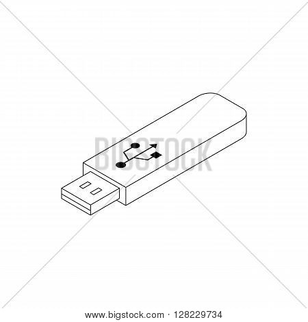 USB flash drive icon in isometric 3d style on a white background