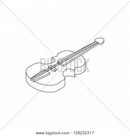 Violin icon in isometric 3d style on a white background
