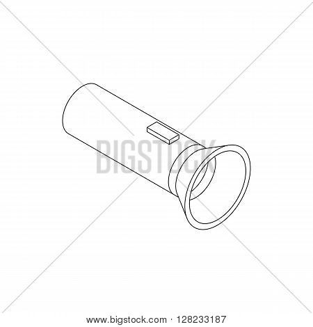 Flashlight icon in isometric 3d style on a white background