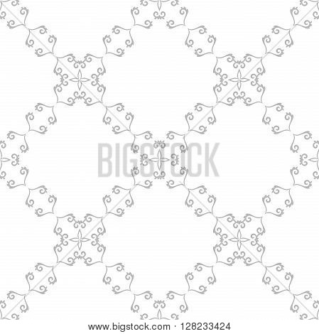 Seamless vector pattern. Modern geometric pattern. Silver pattern with repeating elements