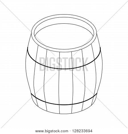 Beer barrel icon in isometric 3d style on a white background