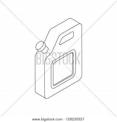 Jerrycan icon in isometric 3d style on a white background