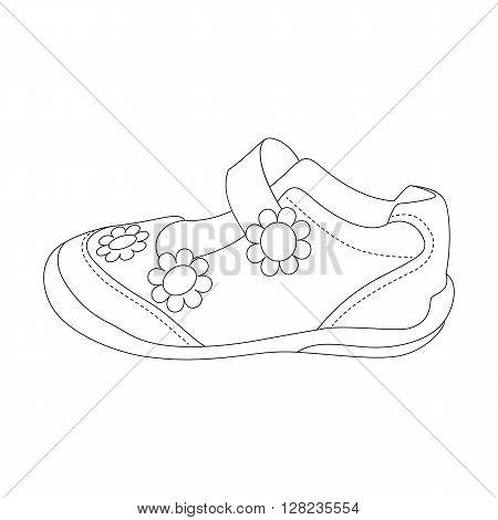 Children sandals for girls. Beautiful vector illustration.