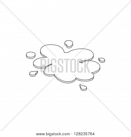 Oil spill icon in isometric 3d style on a white background