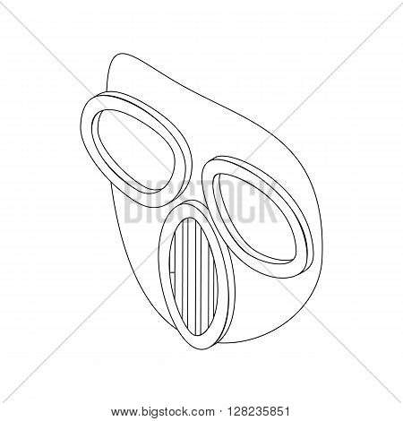 Paintball mask icon in isometric 3d style isolated on white background