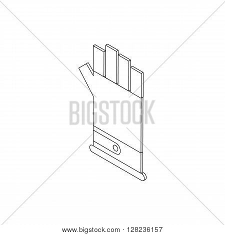 Paintball glove icon in isometric 3d style isolated on white background