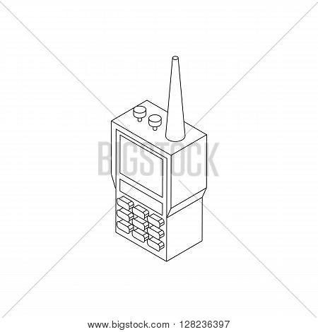 Radio set icon in isometric 3d style isolated on white background