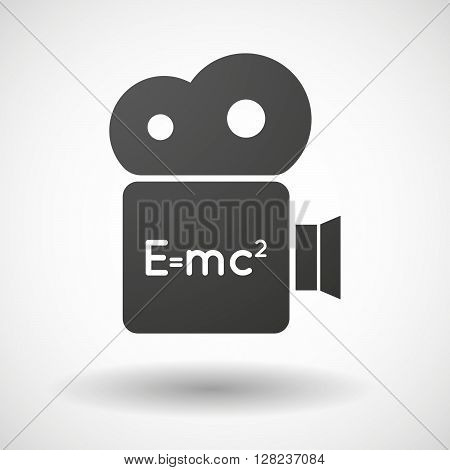 Isolated Cinema Camera Icon With The Theory Of Relativity Formula