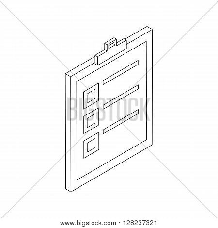 Check list icon in isometric 3d style isolated on white background