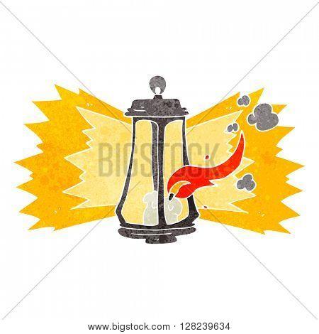 freehand retro cartoon spooky lantern