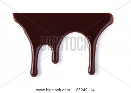 chocolate streams isolated on a white