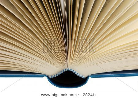 Opened Book Isolated On White With Clipping-Path
