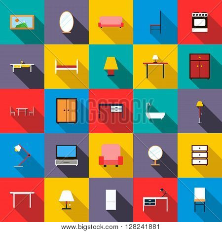 Furniture icons set use for any design