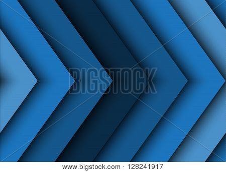 Modern blue abstract vector background of arrows