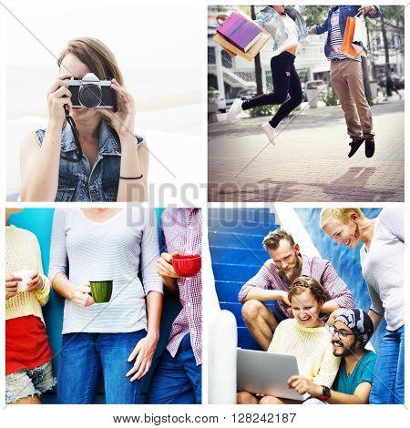 Lifestyle Leisure Vacation Friends Concept