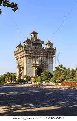 Patuxay literally meaning victory gate in vientiane Laos