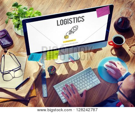 Logistics Distribution Cargo Freight Manufacturing Concept