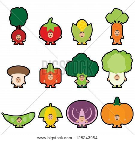 Cartoon Veggies. Veggies Mascot.