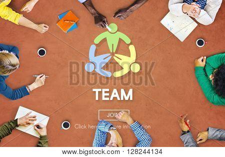 Team Teamwork Connection Cooperation Partner Concept