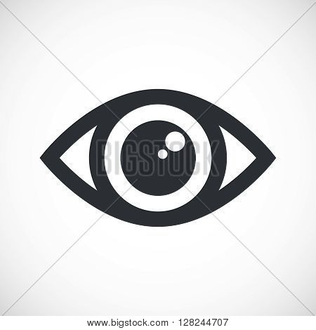 Simple Eye Icon. Isolated eye icon with flare on white background