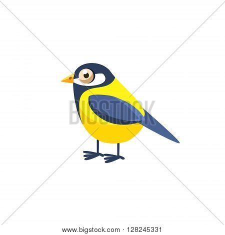 Tomtit Simplified Cute Illustration In Childish Flat Vector Design Isolated On White Background