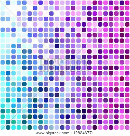 Blue, cyan and magenta square mosaic vector background design