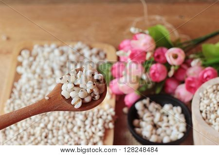 Cooked millet seeds and dried millet seeds