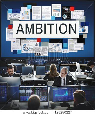 Ambition Aspiration Business Vision Goals Concept