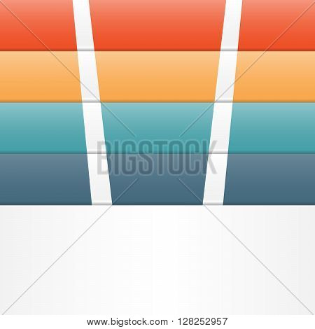Colour strips for template infographic four position