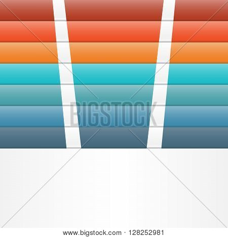Colour strips for template infographic seven position